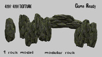 3d model mountain rock