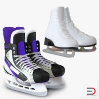 ice skates 3d 3ds