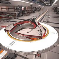 Sci-Fi Spaceship Hangar