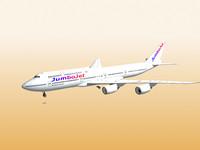 3d boeing 747-8i jumbo jet model