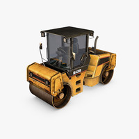 asphalt road roller 3d model