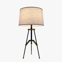3d model table lamp modern -