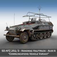 3d sd kfz 251 3 model