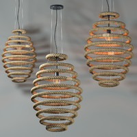 rope lamp light 3d max
