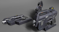 sci fi pistol m 3d 3ds