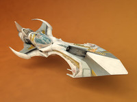 3ds futuristic ship