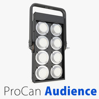 3d procan audience blinders lighting model