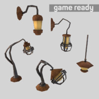 Low Poly Lamp Pack