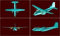 3d c-160 transall transport aircraft model
