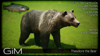 animal theodore bear 3d model