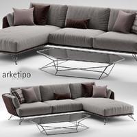3d arketipo morrison sofa