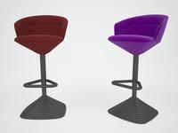 3d pivot bar stool chair model