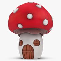 3d mushroom house