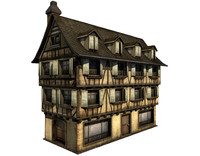 Medieval Townhouse (Low-Poly)