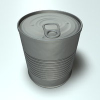 Tin Can with Pull Tab