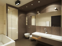 modern washroom 3d model