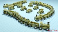 wood toy train 3d x