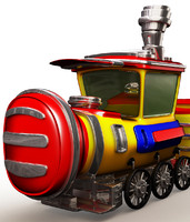 3d model train cartoon art