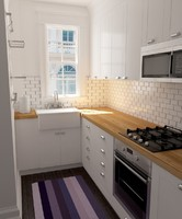 3d max interior home kitchen scene