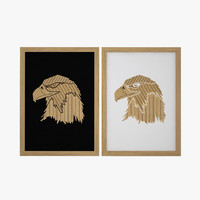 3d wooden eagle picture vol02