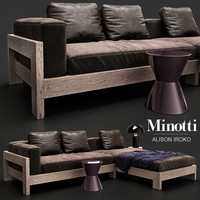 sofa minotti alison iroko 3d model