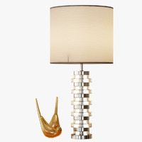 3d clear disc table lamp model
