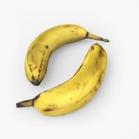 3d model banana sweet