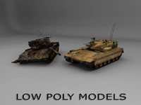 fbx merkava 2 tank