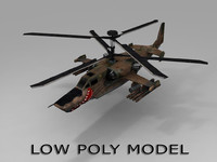 3d model of russian ka-50 helicopter