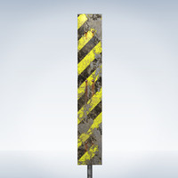 3d dirty road sign