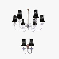 3d chandelier wall light class model