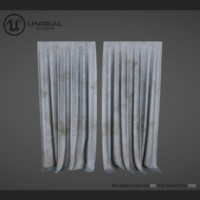 curtain dirty 3d max