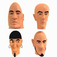 max cartoon characters faces