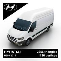 3d 2015 hyundai h350 van model