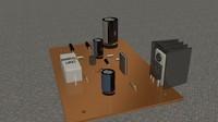 free mainboard 3d model