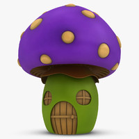 mushroom house purple 3ds