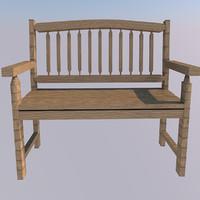 Mirror lake garden bench