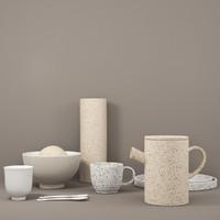 2 ceramic vase 3d model