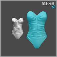 3ds swimsuit blue swim