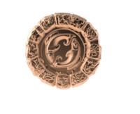 3d obj medal astro gemini