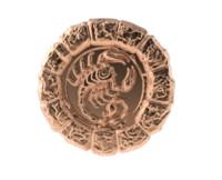 3d medal astro scorpio model