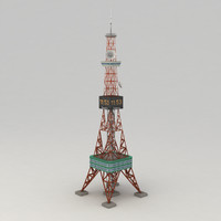 sapporo tower 3d model