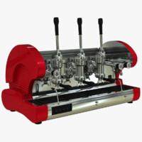3d model coffe machine la pavoni