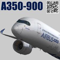 airbus a350-900 xwb 3d 3ds