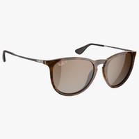 3d stylish rayban erika sunglasses model
