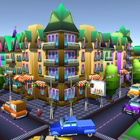 3d simple city constructor