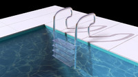 pool ladder 3d model
