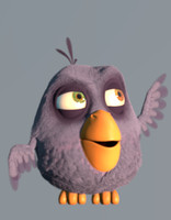 3d model cartoon bird character birdy