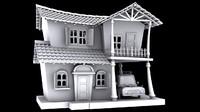 house toon cartoon 3d model