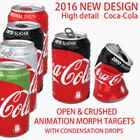 Coca Cola can Crushed/open with morph targets